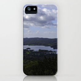 Lake Windermere, View from Orrest Head - Landscape Photography iPhone Case