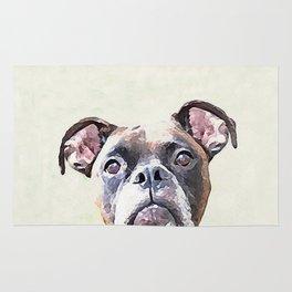Brindle Boxer Dog Rug