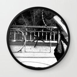 Dancing with Shadows (Hula Hoop Series) Wall Clock