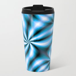 Windmills Sky Blue Pattern Travel Mug