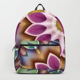 Happy Fuschia Flower Kaleidoscope Backpack