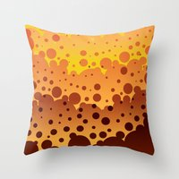 sand Throw Pillows featuring Sand by Roberlan Borges
