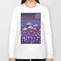 middle earth Long Sleeve T-shirts featuring Lost in Middle earth by moonlight by ForestSeaSky2000
