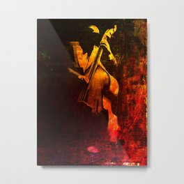 The Color of Music - Double Bass Metal Print