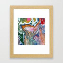 Melting Rainbow II Framed Art Print