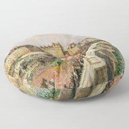 "Camille Pissarro ""Afternoon Sunshine, Pont Neuf"" Floor Pillow"