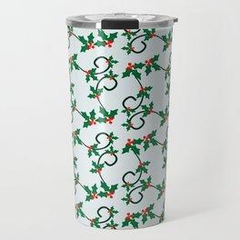 Holly Berries pattern Travel Mug