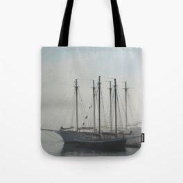 Sailing in Fog Tote Bag