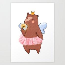 Bear Tooth Fairy Art Print