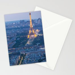 Paris at Blue Hour Stationery Cards