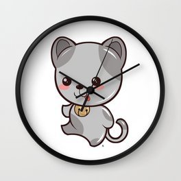 Happy Kitten Kawaii Wall Clock