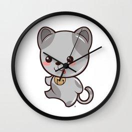 Happy Kitten Kawaii Wall Clock