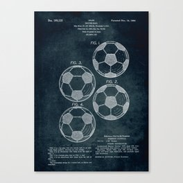 1963 - Soccer Ball patent art Canvas Print