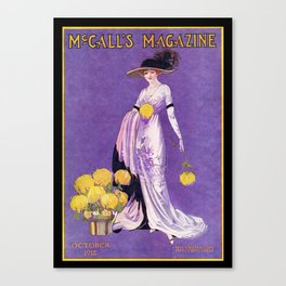 Vintage Lady from 1912 Canvas Print