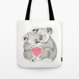 Koalas love hugs Tote Bag