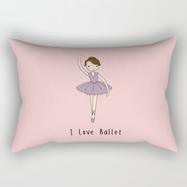 Ballerina - Brown Hair Rectangular Pillow