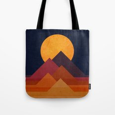 Full moon and pyramid Tote Bag