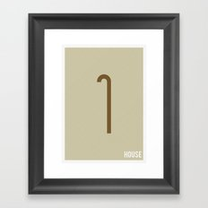 House M.D. - Minimalist Framed Art Print