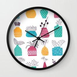 Ornamental Vases Wall Clock
