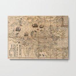 Map Of Nagasaki 1764 Metal Print