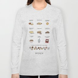 Foods of 30 Rock Long Sleeve T-shirt