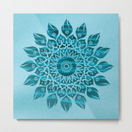Deep Meditation Mandala Metal Print