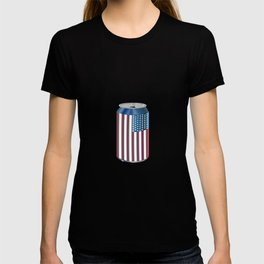 Beer Can American Flag- Proud American Patriot Cool Celebration Cool Gift T-shirt