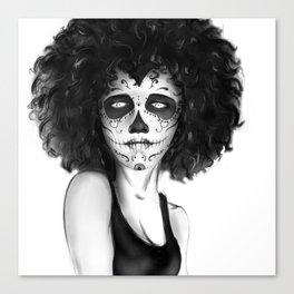 Famele Skull Canvas Print