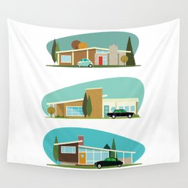 Hollywood Bungalows Wall Tapestry