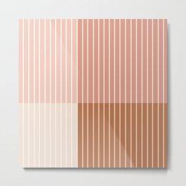 Color Block Line Abstract XVI Metal Print