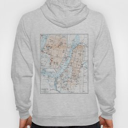 Vintage Map of Calcutta India (1914) Hoody