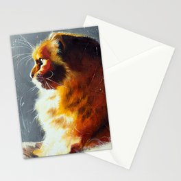 Animal - Gambo the intrepid cat - by LiliFlore Stationery Cards