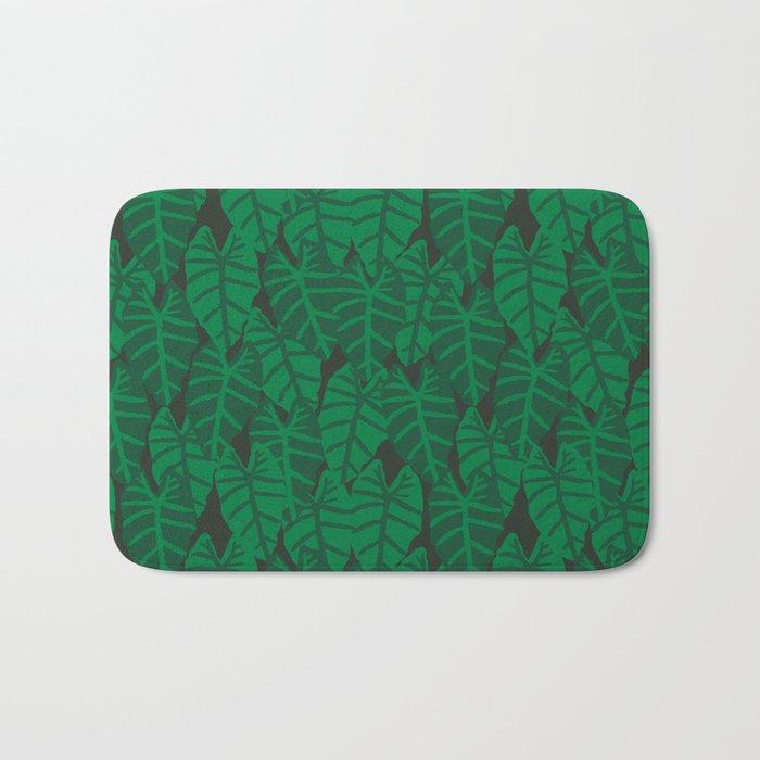 Elephant Ear house plant tropical garden green minimal pattern Bath Mat