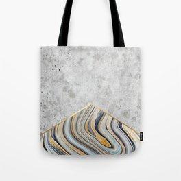 Concrete Arrow - Blue Marble #177 Tote Bag