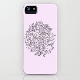 arrangement of flowers and leaves ( https://society6.com/totalflora/collection ) iPhone Case