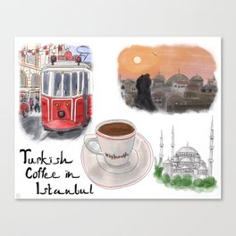 Turkish Coffee in Istanbul Canvas Print