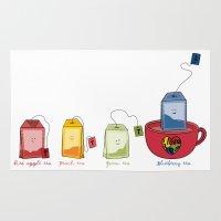tea Area & Throw Rugs featuring tea by Emma Harckham