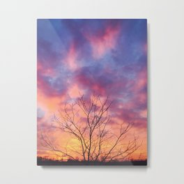 Nature's Cotton Candy Metal Print