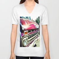 ford V-neck T-shirts featuring Ford Tough by Kim Ramage