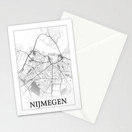 Nijmegen, Netherlands, city map Stationery Cards