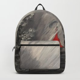 Lady in red - Rainy day Backpack