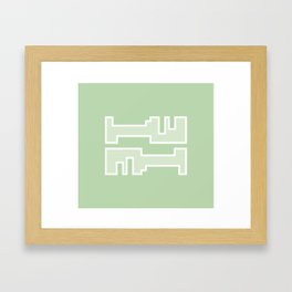 Green // Key Blade Framed Art Print