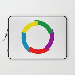 Flag of La Francophonie symbol french language speakers emblem Laptop Sleeve