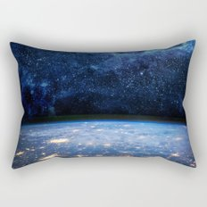 Earth and Galaxy Rectangular Pillow