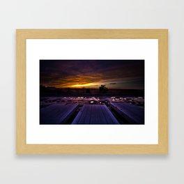 Winter Docks  Framed Art Print