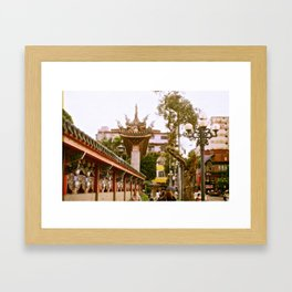 MengjiaLongshan-Temple - Streets of Taipei Framed Art Print