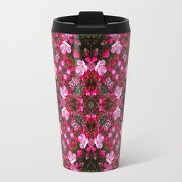 Spring blossoms kaleidoscope - Strawberry Parfait Crabapple Travel Mug