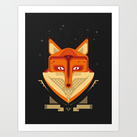 Fox trophy Art Print