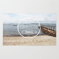 cape cod Area & Throw Rugs featuring Cape Cod Paradise  by Caroline Fahey