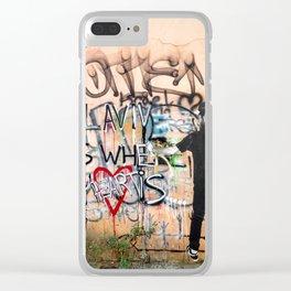 Tel Aviv Street Art / Tel Aviv is Where My Heart Is Clear iPhone Case